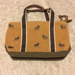 L.L. Bean moose embroidered tote